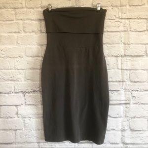 Aritzia Community Strapless Fold-over Dress